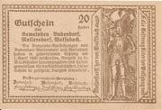 20 Heller (Bubendorf, Meilersdorf, Wolfsbach) -  reverse