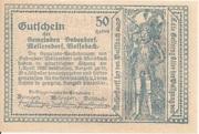 50 Heller (Bubendorf, Meilersdorf, Wolfsbach) – reverse