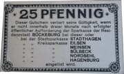 25 Pfennig (Sparkasse) – reverse
