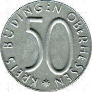 50 Pfennig - Büdingen – obverse