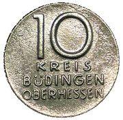 10 Pfennig - Büdingen – obverse
