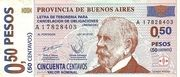 """50 Centavos (Treasure bond - """"Patacón"""") – obverse"""