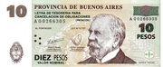 """10 Pesos (Treasure bond - """"Patacón"""") – obverse"""