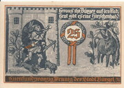 25 Pfennig (Hunting Series - Issue 2) – reverse