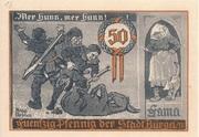 50 Pfennig (Hunting Series - Issue 3) – reverse