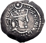 Drachm - Khunak - 700-790 AD (Samarqand - imitation of Drachm of Varharan V - Arab-Sasanian) – obverse