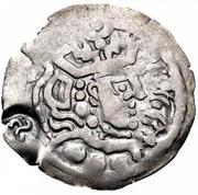 "1 Drachm - Anonymous (Bukhar Khudat; ""Mug"" type; triskeles countermark) – obverse"