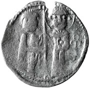 Dinar - Chaka - Early Noghay rule in Bulgaria (unknown mint; stamped Tamgas; imitation of Venetian grosso) – obverse
