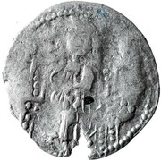 Dinar - Chaka - Early Noghay rule in Bulgaria (unknown mint; stamped Tamgas; imitation of Venetian grosso) – reverse