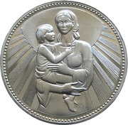25 Leva (Mother and Child) – reverse