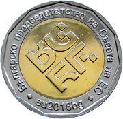 2 Leva (Bulgarian Presidency) -  reverse