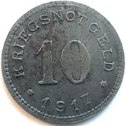 10 Pfennig - Burg auf Fehmarn – reverse