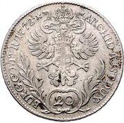 20 Kreuzer - Maria Theresia – reverse