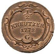 ½ Kreutzer - Maria Theresia – reverse