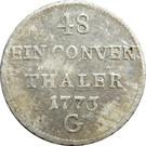 1/48 Konventionsthaler - Maria Theresia – reverse