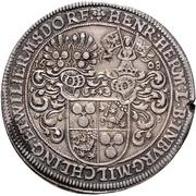 1 Thaler - Heinrich Hermann – reverse