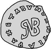 1 Siliqua - Gundobad (Lugdunum/Lyon) -  obverse