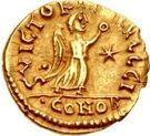 1 Tremissis - Sigismund / In the name of Justin I, 518-527 (Lugdunum/Lyon) – reverse