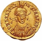 1 Solidus - Gundobad / In the name of Anastasius I, 491-518 (Lugdunum/Lyon; without monogram) – obverse