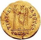 1 Solidus - Gundobad / In the name of Anastasius I, 491-518 (Lugdunum/Lyon; without monogram) – reverse