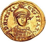 1 Solidus - Sigismund / In the name of Justin I, 518-527 (Lugdunum/Lyon) – obverse