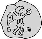1 Siliqua - Gundobad (Lugdunum/Lyon) – reverse