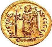 1 Solidus - Sigismund / In the name of Justin I, 518-527 (Lugdunum/Lyon) – reverse