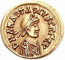 1 Tremissis - Godegisel / In the name of Anastasius I, 491-518 (Lugdunum/Lyon) – obverse