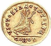 1 Tremissis - Godegisel / In the name of Anastasius I, 491-518 (Lugdunum/Lyon) -  reverse