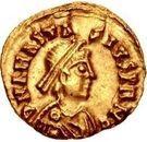 1 Tremissis - Gundobad / In the name of Anastasius I, 491-518 (Lugdunum/Lyon) – obverse