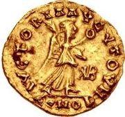 1 Tremissis - Gundobad / In the name of Anastasius I, 491-518 (Lugdunum/Lyon) -  reverse