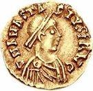 1 Tremissis - Sigismund / In the name of Anastasius I, 491-518 (Lugdunum/Lyon) – obverse