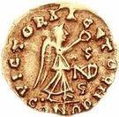 1 Tremissis - Sigismund / In the name of Anastasius I, 491-518 (Lugdunum/Lyon) – reverse