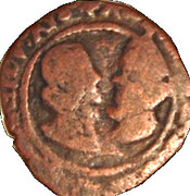 Double Denier - Alberto and Isabella (2nd type) – obverse
