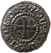 Double denier de Bourgogne - Robert II – obverse