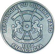 1000 Francs CFA (Château Renard) – obverse