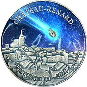1000 Francs CFA (Château Renard) – reverse