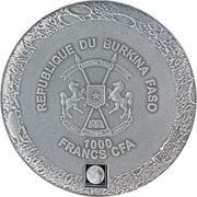 1000 Francs CFA (Lunar Meteorite) – obverse