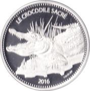 1000 Francs CFA (The Sacred Crocodile) – reverse