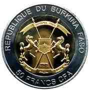 50 Francs CFA (Elephant) – obverse