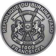 1000 Francs CFA (Smilodon) – obverse