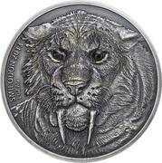 1000 Francs CFA (Smilodon) – reverse