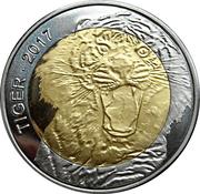 50 Francs CFA  (Tiger) – reverse