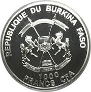 1000 Francs CFA (Poseidon) – obverse