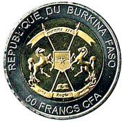 50 Francs CFA (Sea Turtle) – obverse
