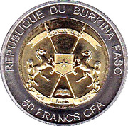 50 Francs CFA (White Rhinoceros) – obverse