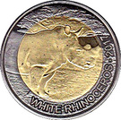 50 Francs CFA (White Rhinoceros) – reverse