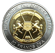 50 Francs CFA  (Tiger) – obverse
