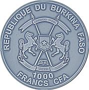 1000 Francs CFA (Chameleon Eye) – obverse