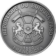 1000 Francs CFA (The Parrot) – obverse
